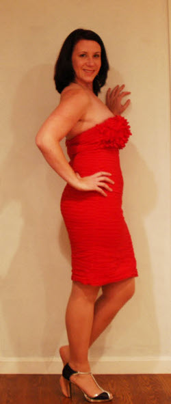 Suzanne red dress